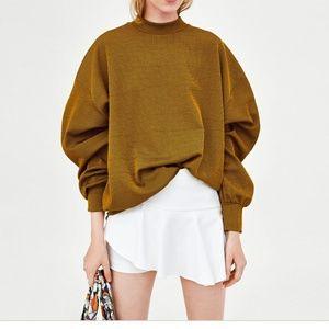 Zara white ruffle skort short skirt